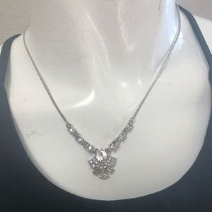 NWT Givenchy Silver/Crystal necklace